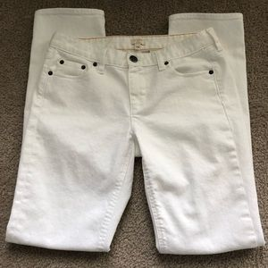 [J Crew] White Straight Jeans